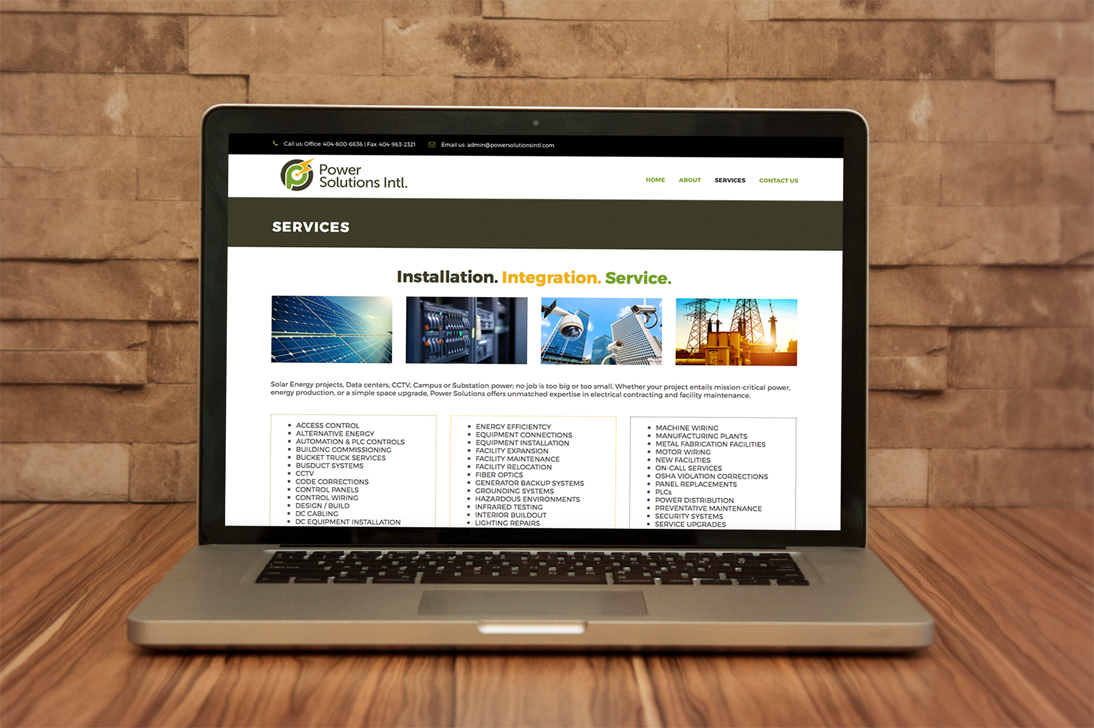 Power Solutions Intl. Services Page